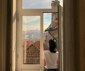 girl, aesthetic, and window image