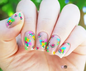 beauty, fruit, and nails image