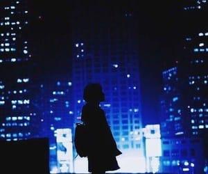 city, blue, and night image