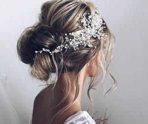 hair, wedding, and updo image