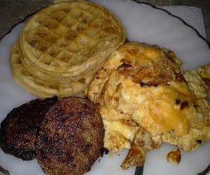 breakfast, waffle, and egg image