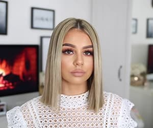blonde, hair, and straight image