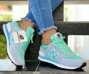 blue, new balance, and shoes image