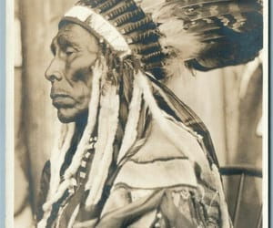 aboriginal, chief, and feathers image