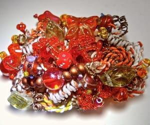 art glass, aurora borealis, and glass beads image
