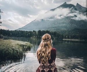 fashion, mountains, and nature image