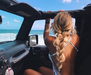 summer, blue, and car image