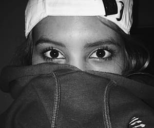 black and white, hoodie, and eyes image