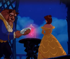 background, beauty and the beast, and belle image
