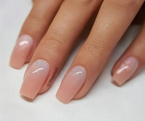 aesthetic, nails, and peach image