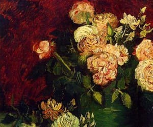 flowers, vincent van gogh, and carmine image