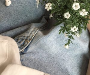 flowers, jeans, and indie image