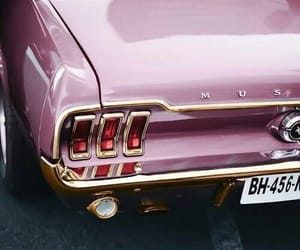 car, pink, and mustang image
