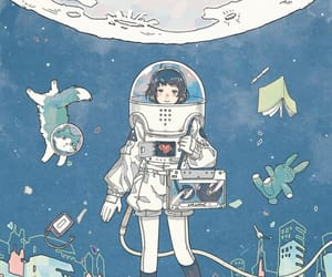 illustration, space, and art image
