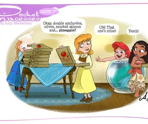 disney princess, pizza, and pocket princess image