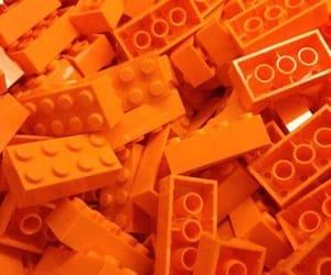 orange, aesthetic, and lego image