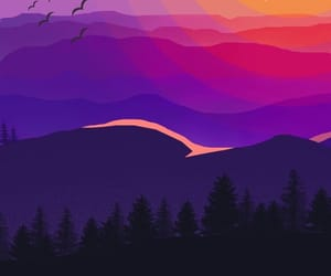 color, purple, and sun image