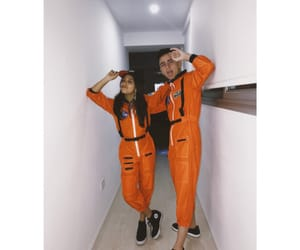 astronauts, costume, and couple image