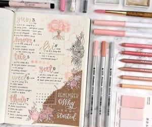 bullet journal, journaling, and pink image
