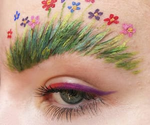 eyes, beauty, and flowers image