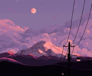 aesthetic, moon, and anime image