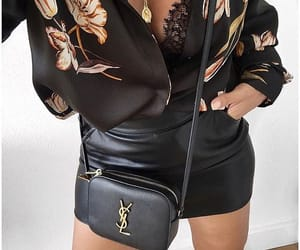 bag, black, and outfit image