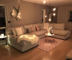 home, lights, and aesthetic image