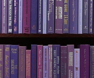 book, purple, and read image