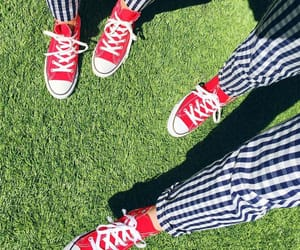 converse, gingham, and stripes image