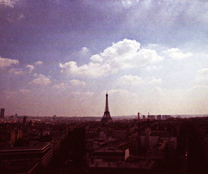 eiffel tower, film, and paris image