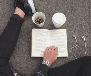 book, grunge, and headphones image
