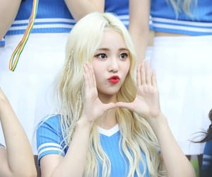 asian girl, blonde girl, and loona oec image