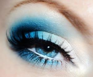 makeup, blue, and make up image