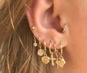 earrings, jewellery, and piercing image