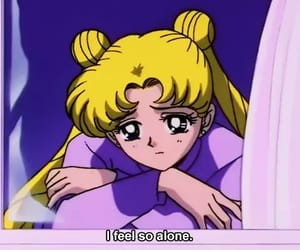 sailor moon, anime, and sad image