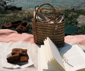 book, picnic, and aesthetic image
