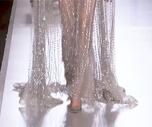 catwalk, dress, and gif image