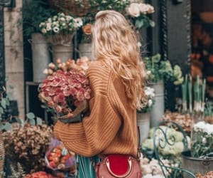 flowers, girl, and outfit image