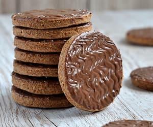chocolate, digestive, and food image