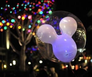 balloon, mickey, and neon image