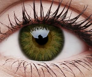 eye, eyes, and colour contact lenses image