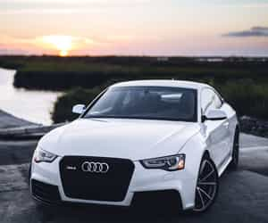 car, white, and audi image