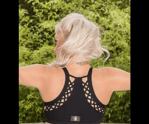 yoga sports bra, yoga bra top, and cross yoga bra image
