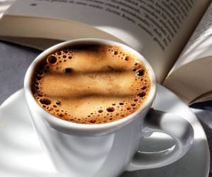 books, coffee, and date image