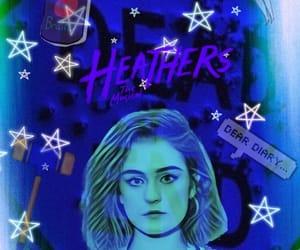 background, blue, and Heathers image