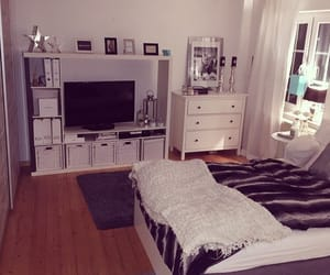 bedroom, home, and tv image