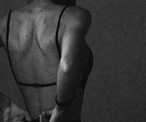 back, naked, and white and black image