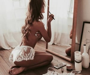 aesthetic, lace, and mirror image