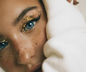blue, eyes, and gold image