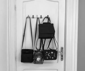 backpack, bags, and black image